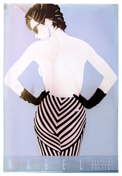 Patrick Nagel, Striped Pants, Ink Jet Print, Bleach Bath, 2009, digital c-print, 24 x 16.5 inches, 61 x 42 cm.