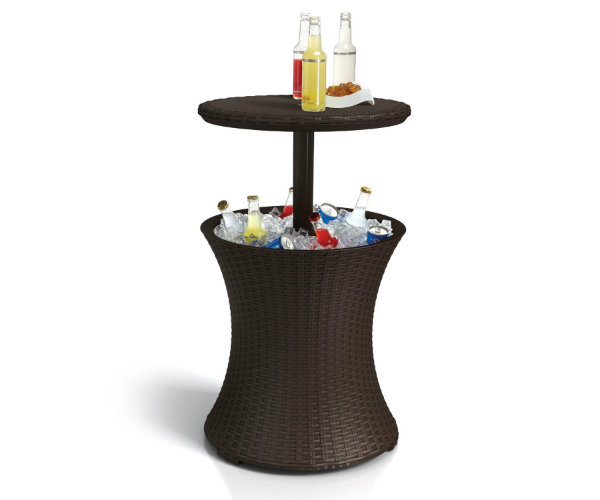 Keter Rattan Cooler Table  Barbecuebiblecom