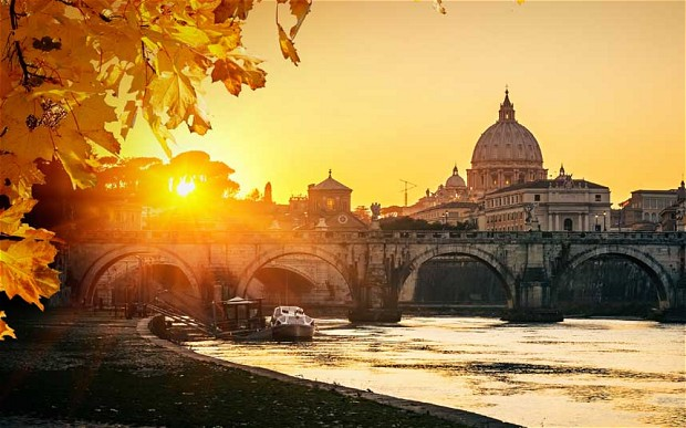 Rome in the autumn. Pic from The Telegraph