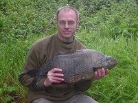 Bulky Bream - Andy caught this bream from a Berkshire lake in May 2005. It weighed in at a massive 13.07.