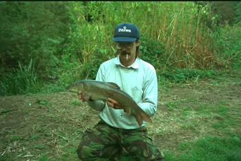 Graham with a Kennet Barbel, 1980's