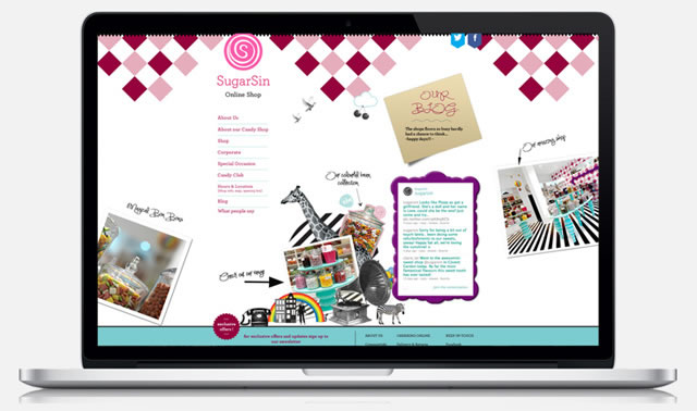 SugarSin London website design