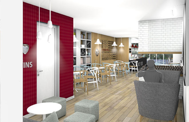 store concept design for Simmons Bakery