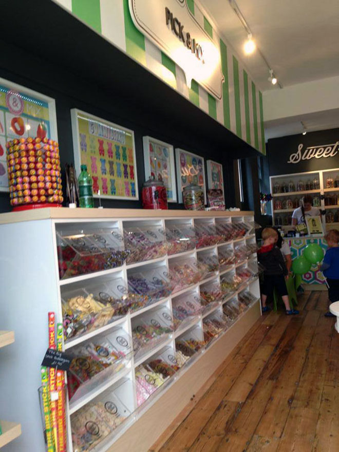 Another view of the pick and mix sweets