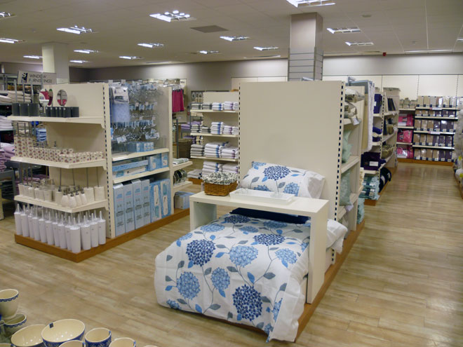 homewares and bedding on display at the new Heatons store