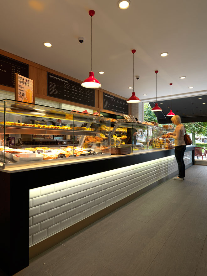 Looking towards the front of the store from the bakery counter