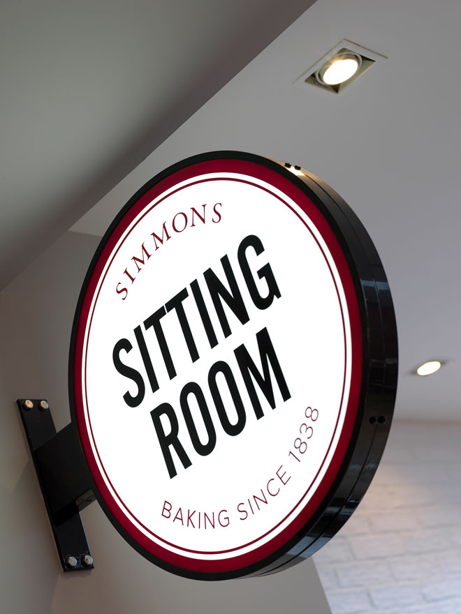 Sitting room sign