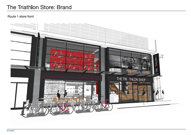 Visuals for the new Triathlon Shop on the Harbourisde