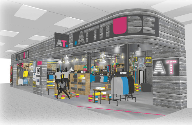 New Attitude store at Manchester Airport