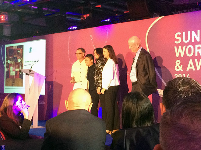 The team from Nuance receive one of two awards
