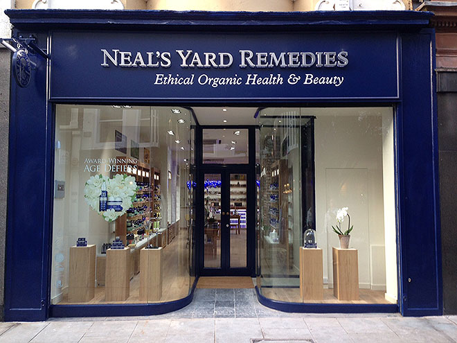 The exterior of the Neals Yard store