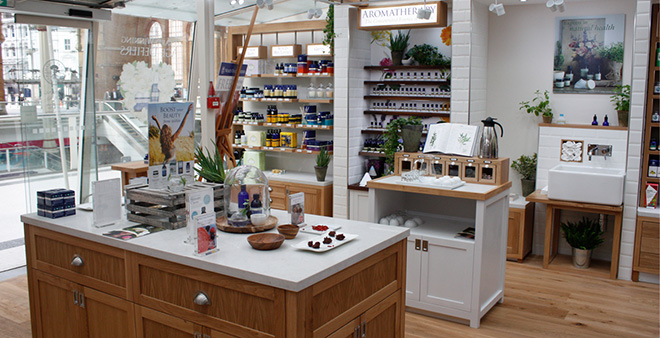 New store design for Neals Yard Liverpool Street