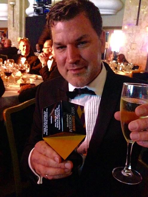 Doug Barber with the award