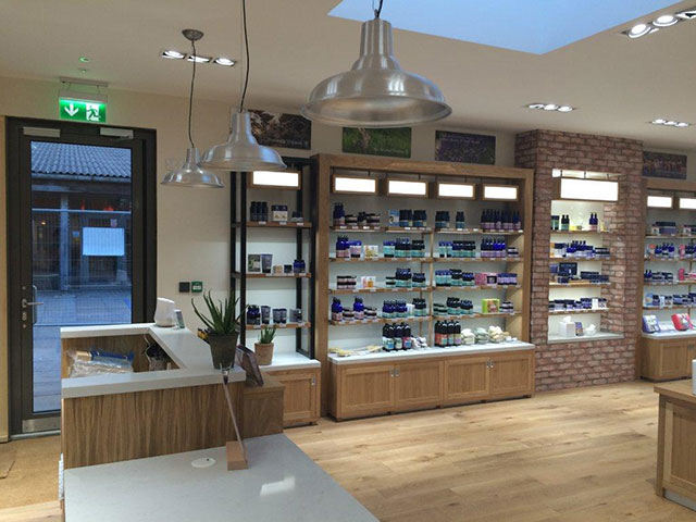 Neals Yard retail store design