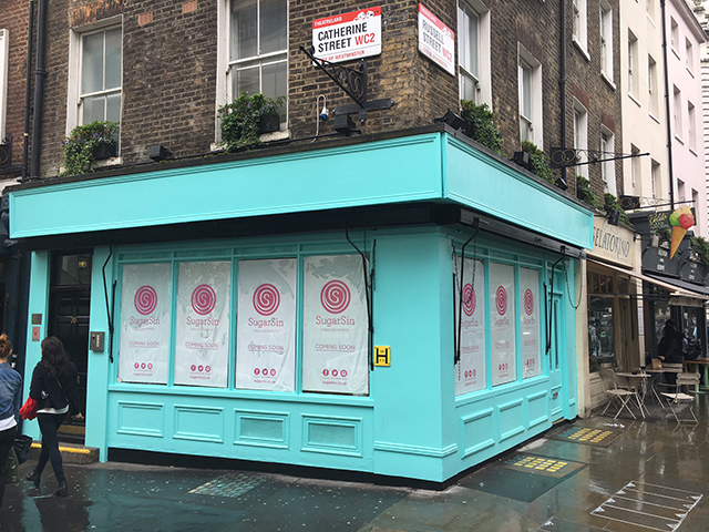 Retail design work by Barber for SugarSin at Covent Garden