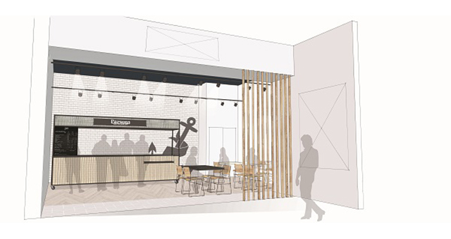 A coffee bar at the new food court revamp