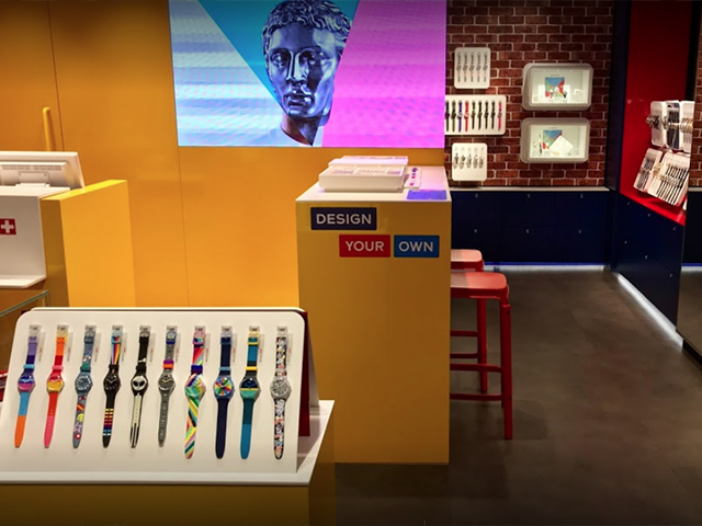 Swatch Store interior, Carnaby Street