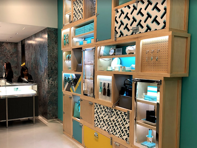 Tiffany & Co boutique interior, Covent Garden