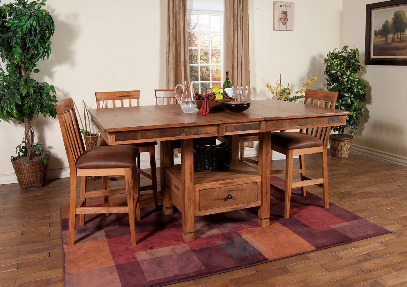 1177ro Sedona Butterfly Dining Table W Slate 1424ro Chairs