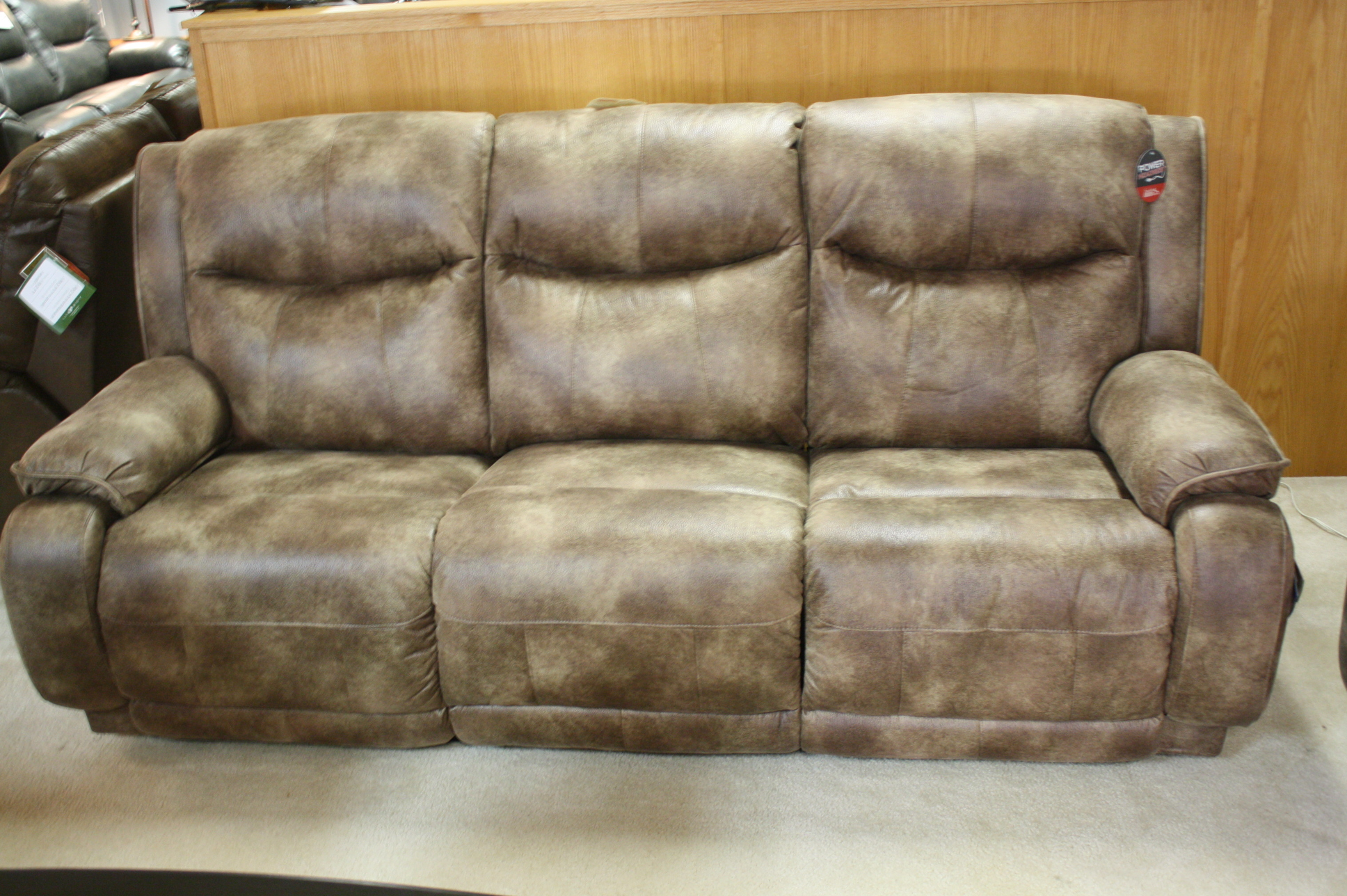 southern motion velocity reclining sofa leather electric recliner corner 875 double power