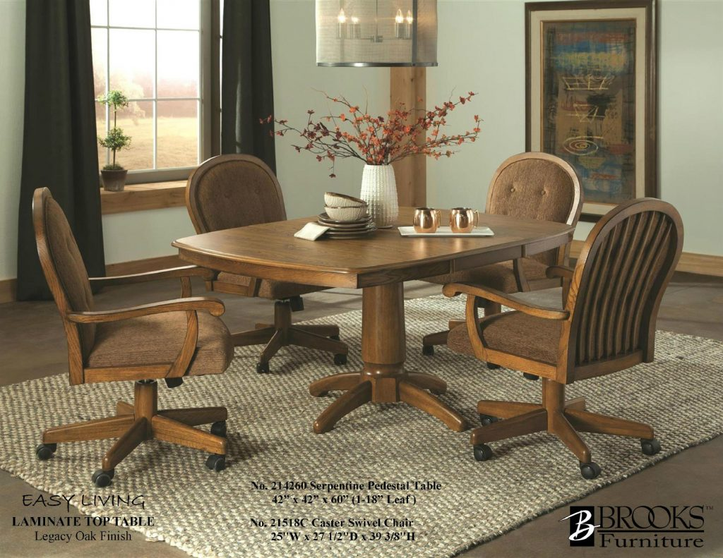 Roller Chairs 214620 Brooks Laminate Table And 21518c Roller Chairs