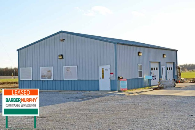 gray warehouse with light blue trim in waterloo illinois