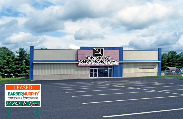 Exterior of warehouse building in Smithon illinois bought by Enskat mechanical