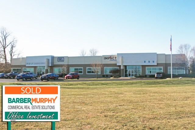 exterior of commercial real estate building strip mall at 340 office court in fairview heights illinois