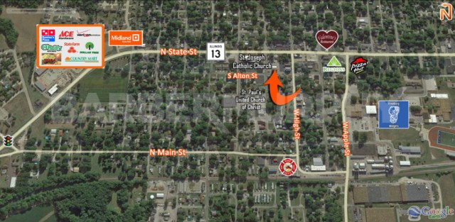 Area Map of 5 South Alton St., Freeburg, IL 62243, Investment, Apartment Building for Sale