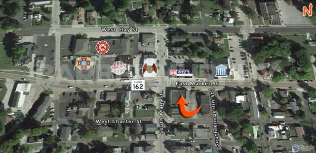 Area Map of 103 East Market, Troy, IL 62294