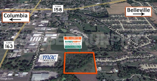 10 Acre Development Site adjoining King's Creek Subdivision for Sale at 75 Josiah Lane, Millstadt, IL 62260, St. Clair County, St. Louis MSA, Metro East, SW Illinois