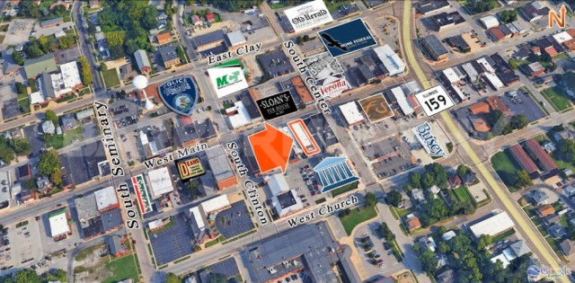 Area Map for 110 West Main St., Collinsville, IL 62234, Storefront Retail for Sale