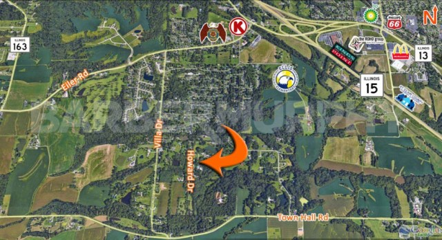 Area Map for Fully Leased Multi-Family Investment Opportunity, Howard Dr., Belleville, 62223
