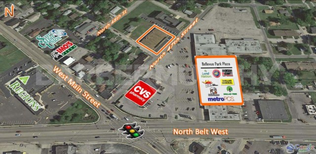 Site Map for 15,510 SF Store Front Retail For Sale, Bellevue Park Plaza, 101-109 North 47th St, Belleville, Illinois 62223