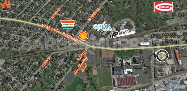 Area Map for Church for Sale, Kingdom Life Christian Ministries, 2901 West Main St, Belleville, Illinois 62226