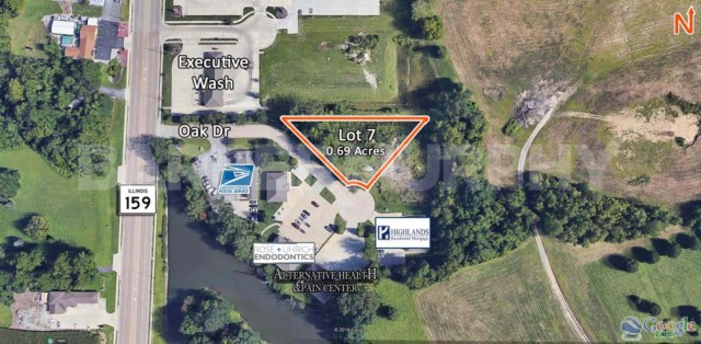 Site Map of Lot 7 for Sale on Oak Drive in Maryville, IL