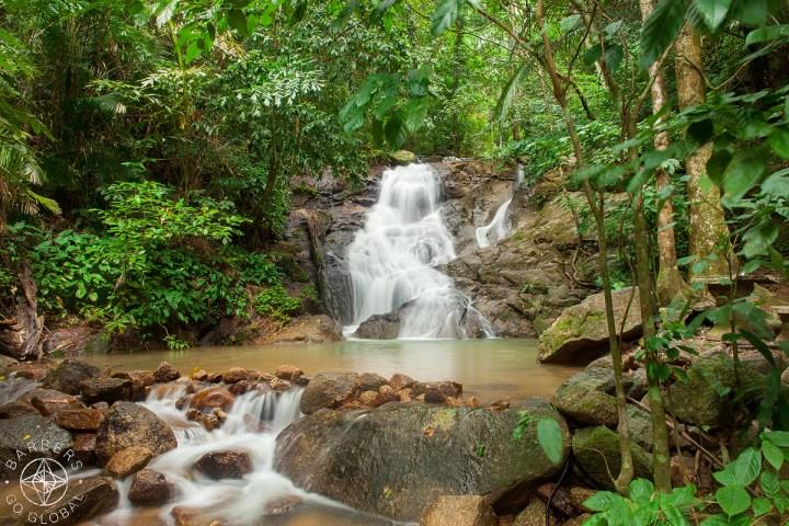 Middle section of Kathu Waterfall Phuket, Thailand