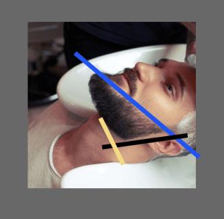 Bartkontur um Lücken zu kaschieren