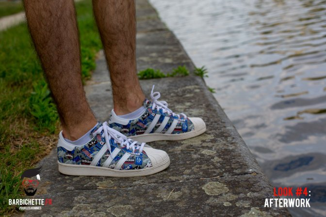 Look #4 AfterWork - Adidas Superstar colorées