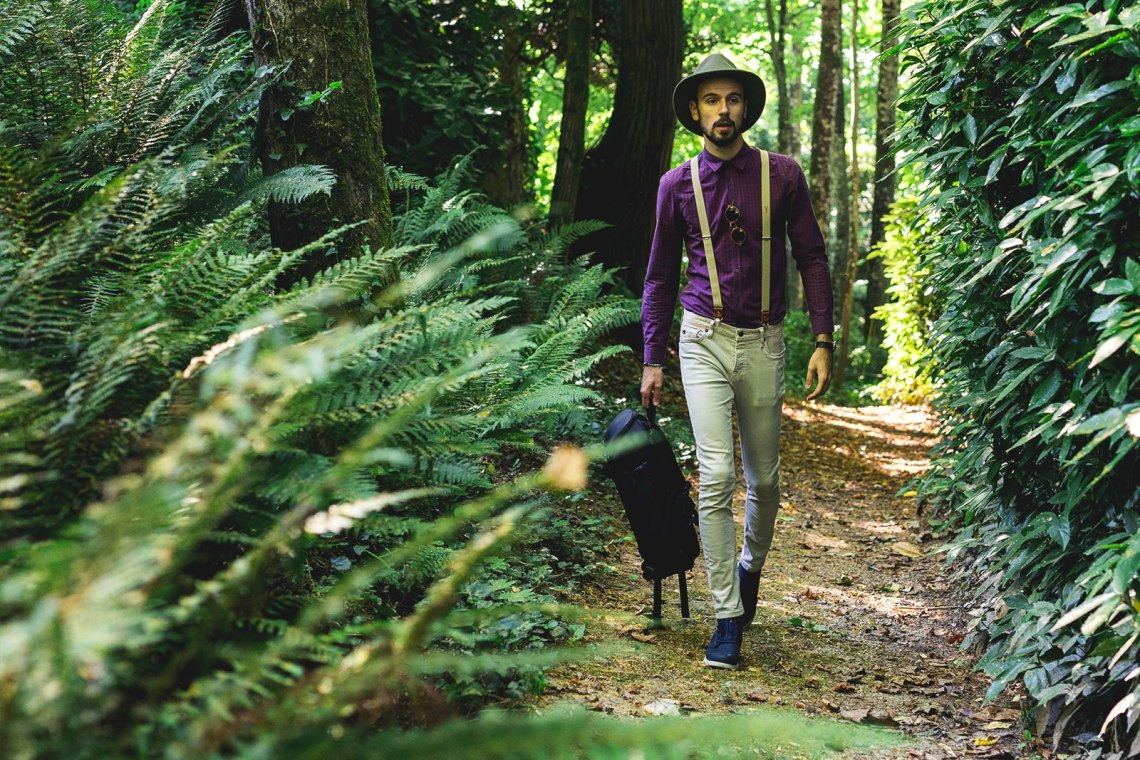 Look Masculin dans Forêt