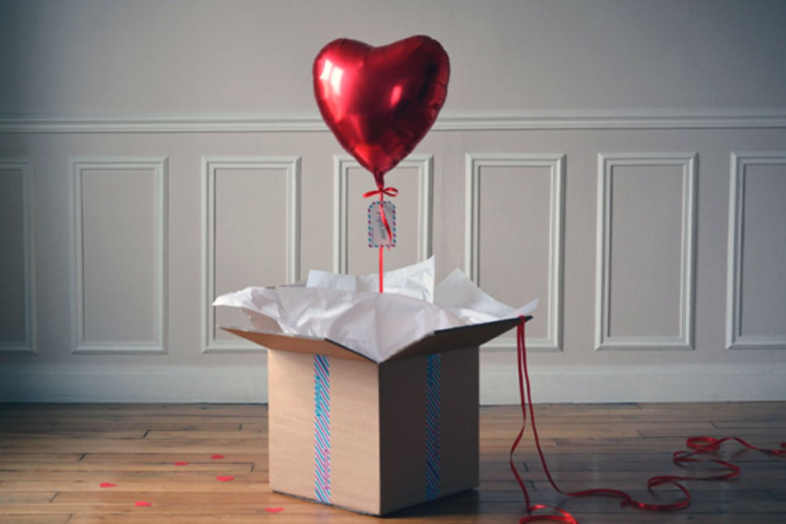 Ballon helium coeur