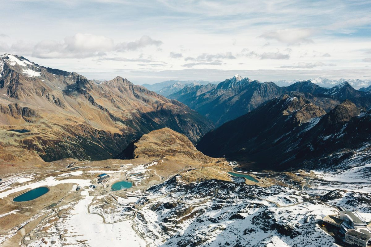 Austria Travel Mountain Drone DJI