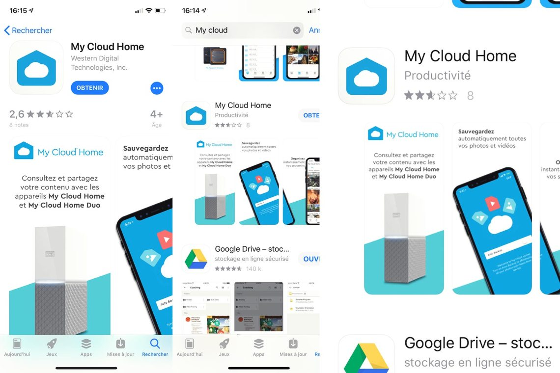 Test Nas Western Digital My Cloud Home 4To