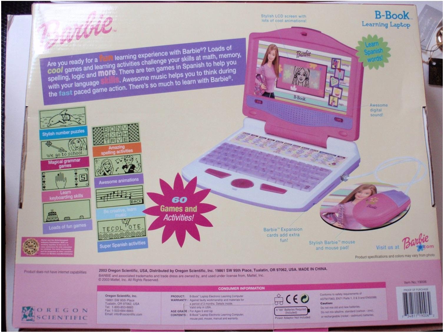 Barbie Laptop models 19006  BarbieLaptopcom