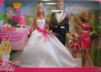 2009 Barbie I Can Be Wedding Gift Set w Barbie, Ken ...