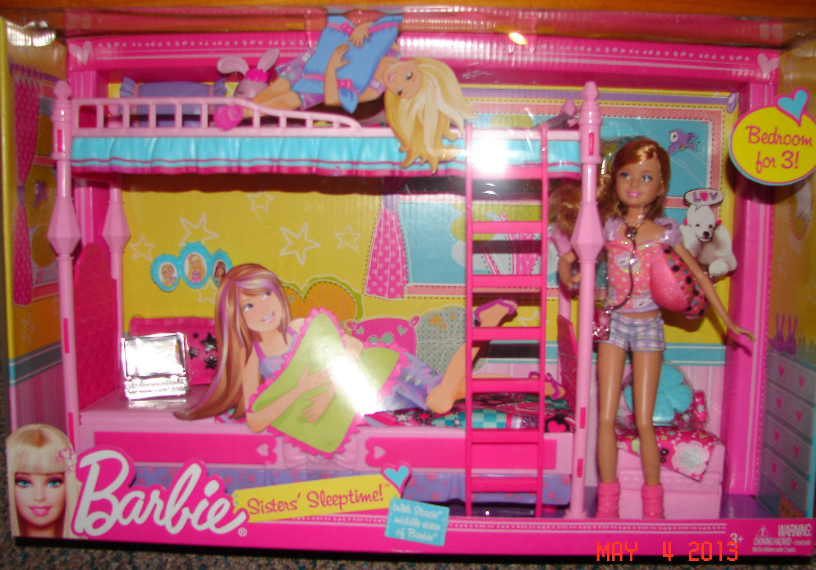 2011 Barbie SISTERS SLEEPTIME Playset with SKIPPER Doll