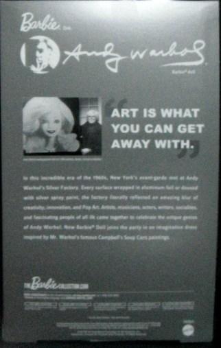 Andy Warhol back NRFB