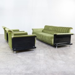 70s Sofa Lear Leather Bed Full Sleeper Gerd Lange 3 Seat Bz29 And Sz28 Fauteuils For