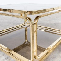 60s Brass and glass coffee table, side table for Allegri ...