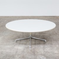Eames round coffee table for Herman Miller